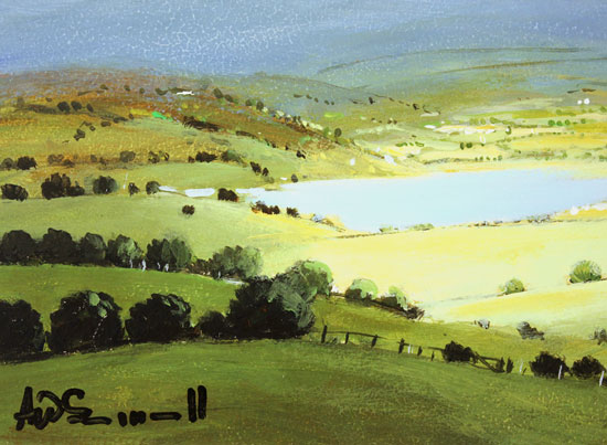 Alan Smith, Original oil painting on panel, Deep in the Valley, The Lake District Signature image. Click to enlarge