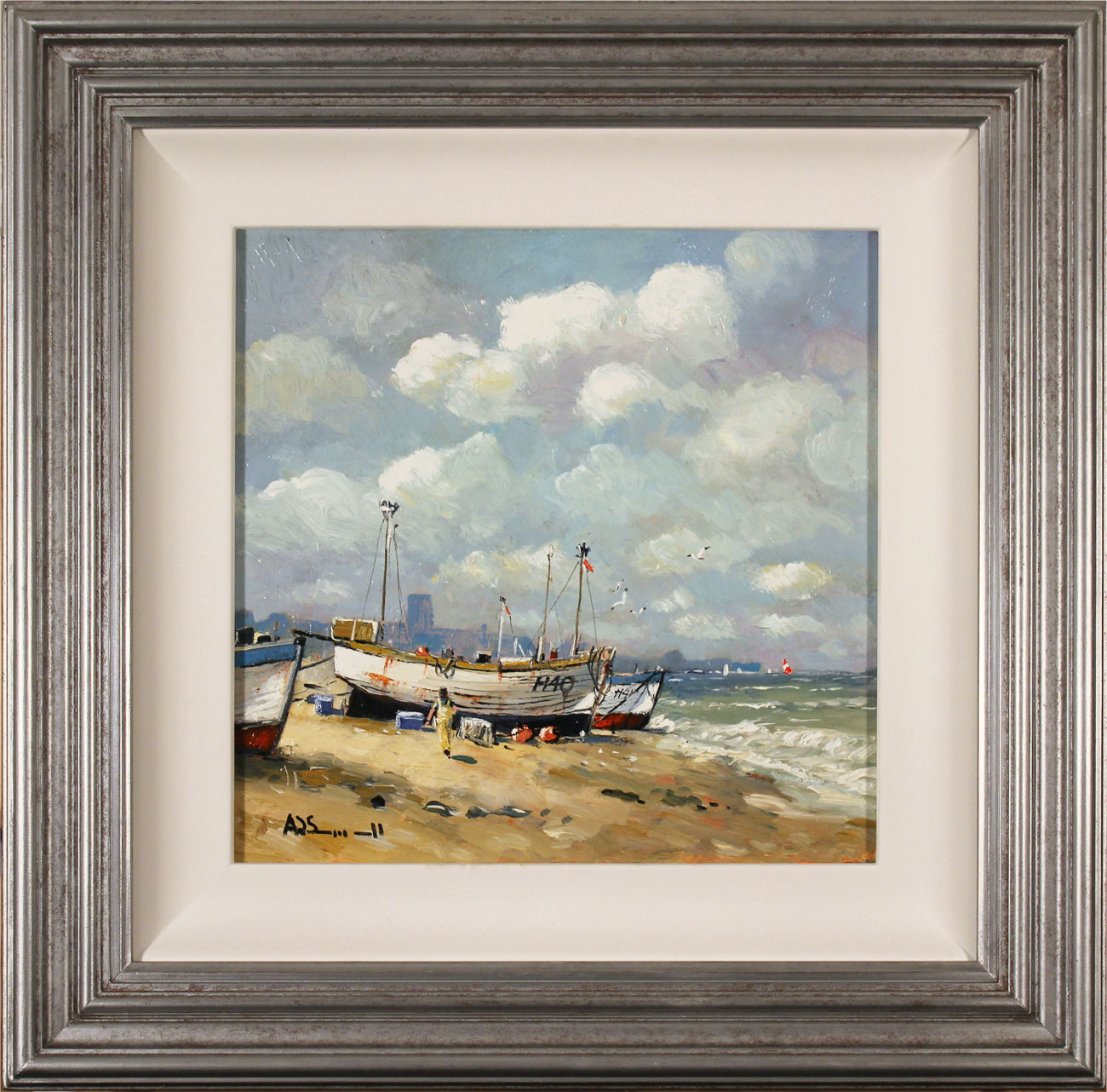 Alan Smith, Original oil painting on panel, Coastal Breeze. Click to enlarge