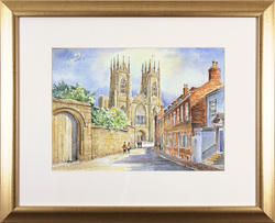 Alan Stuttle, Watercolour, York Minster