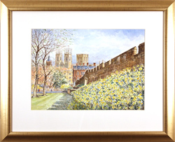 Alan Stuttle, Watercolour, City Walls, York Large image. Click to enlarge