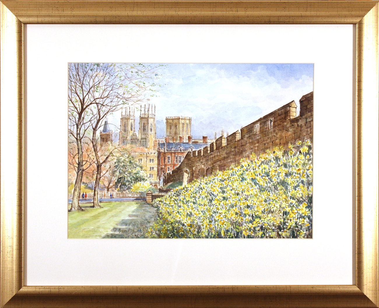Alan Stuttle, Watercolour, City Walls, York. Click to enlarge