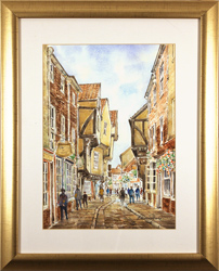 Alan Stuttle, Watercolour, The Shambles, York