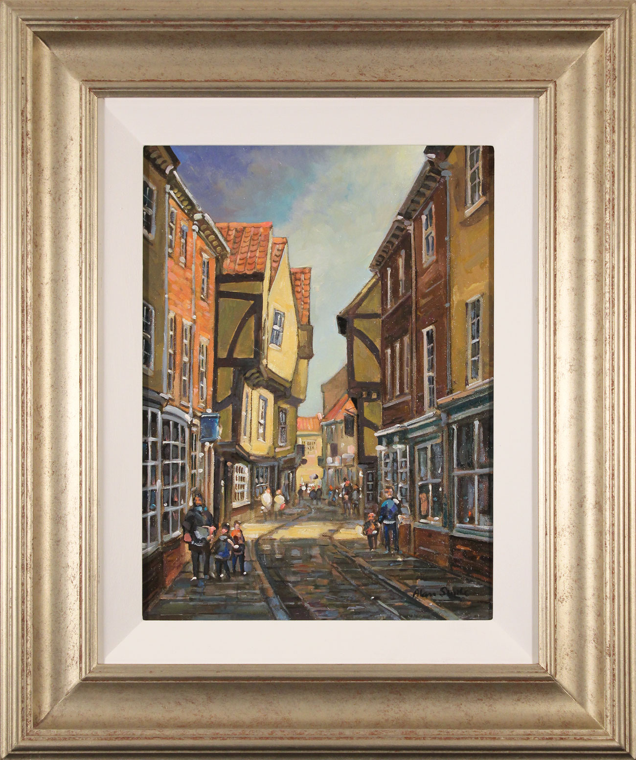 Alan Stuttle, Original oil painting on canvas, The Shambles, York, click to enlarge