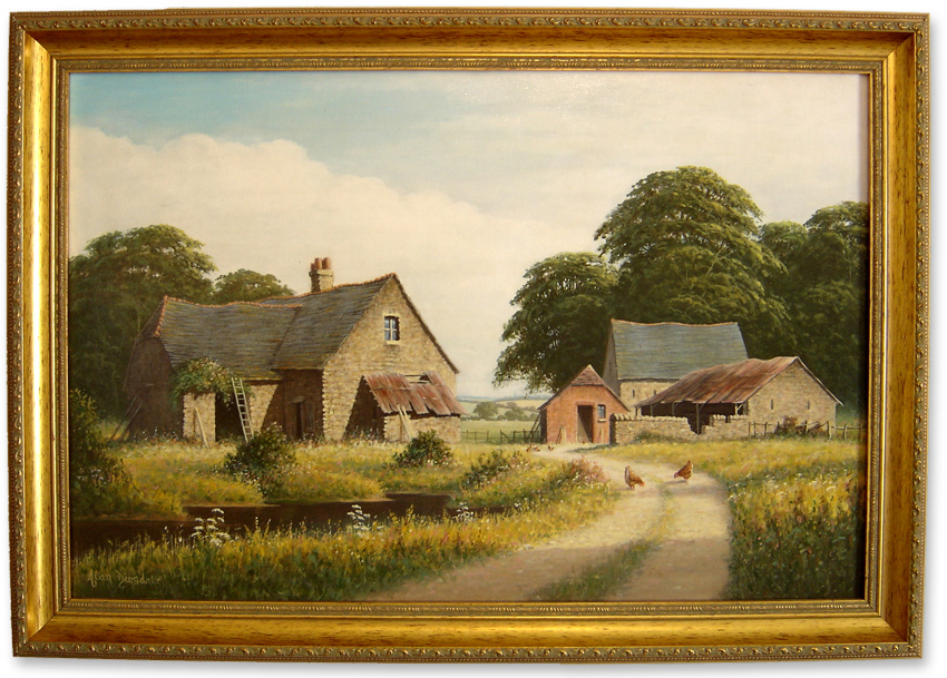 Alan Dinsdale, Original oil painting on canvas, Country Scene. Click to enlarge