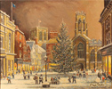 Alan Stuttle, Original oil painting on canvas, York Minster from St.Helen's Square