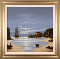 Alex Hill, Original oil painting on canvas, Low Tide at Smuggler's Cove