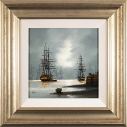 Alex Hill, Original oil painting on canvas, Dockside
