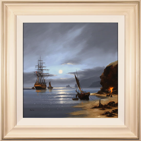 Alex Hill, Original oil painting on canvas, Smuggler's Cove