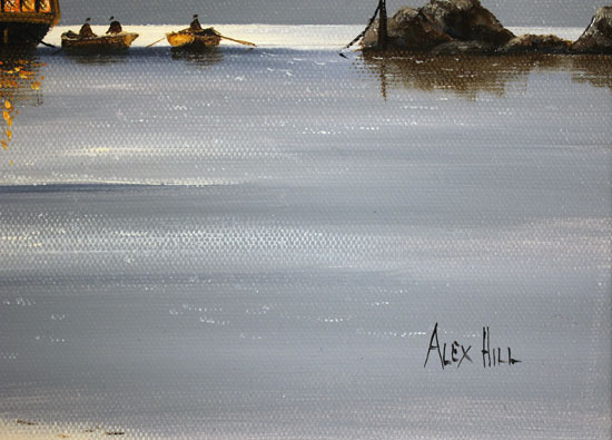 Alex Hill, Original oil painting on canvas, Smuggler's Bay Signature image. Click to enlarge