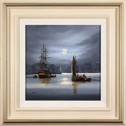 Alex Hill, Original oil painting on canvas, Moonlight Parley