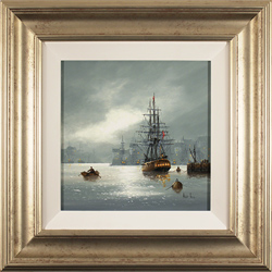 Alex Hill, Original oil painting on canvas, Leaving Port