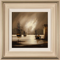 Alex Hill, Original oil painting on canvas, Harbour Fog