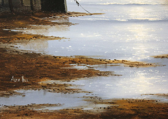 Alex Hill, Original oil painting on panel, Leaving Harbour Signature image. Click to enlarge