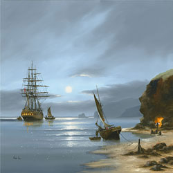Alex Hill, Signed limited edition print, Smuggler's Cove