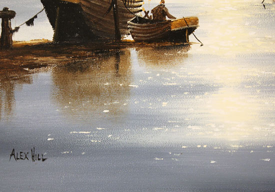 Alex Hill, Original oil painting on panel, Rising Tides Signature image. Click to enlarge