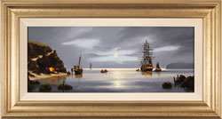 Alex Hill, Original oil painting on canvas, Smuggler's Cove Large image. Click to enlarge