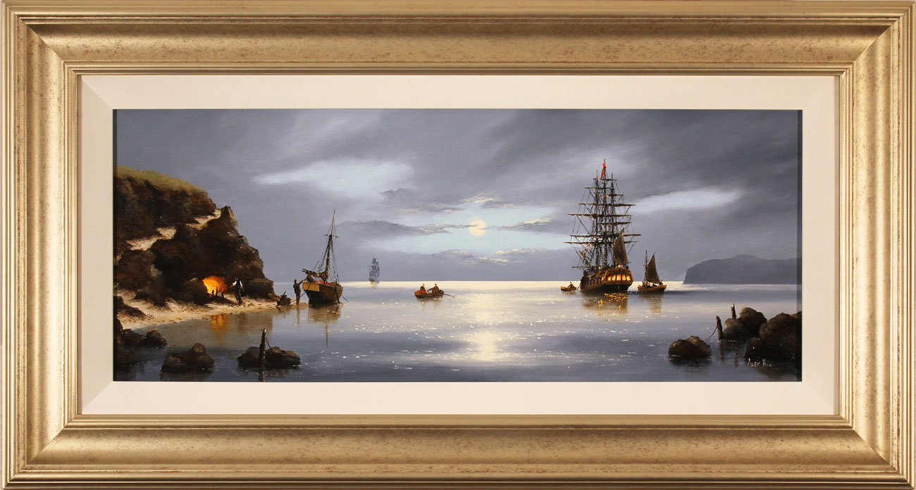 Alex Hill, Original oil painting on canvas, Smuggler's Cove. Click to enlarge