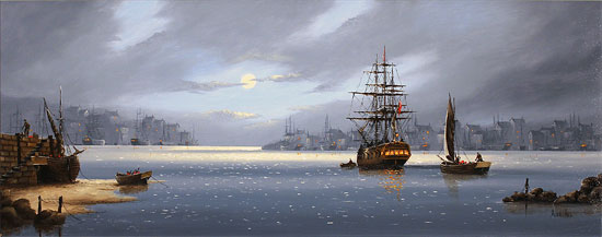 Alex Hill, Original oil painting on canvas, Lifting Anchor Without frame image. Click to enlarge