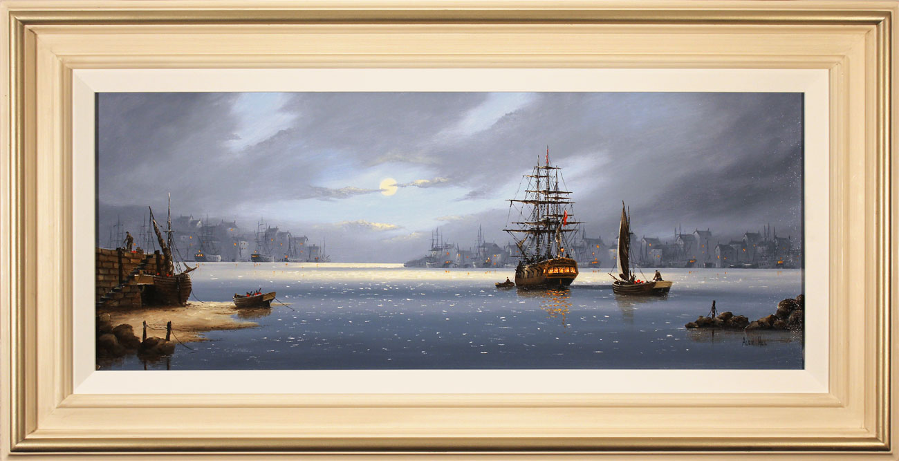 Alex Hill, Original oil painting on canvas, Lifting Anchor. Click to enlarge