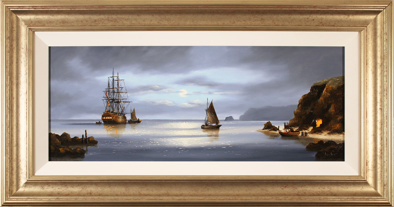 Alex Hill, Original oil painting on canvas, Return to Smuggler's Cove. Click to enlarge