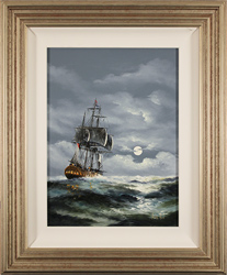 Alex Hill, Original oil painting on canvas, Stormy Seas