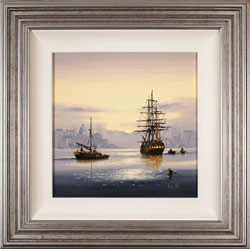 Alex Hill, Original oil painting on canvas, Set Sail at Sunrise Large image. Click to enlarge