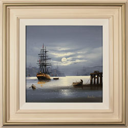 Alex Hill, Original oil painting on canvas, Moonlight Mystery