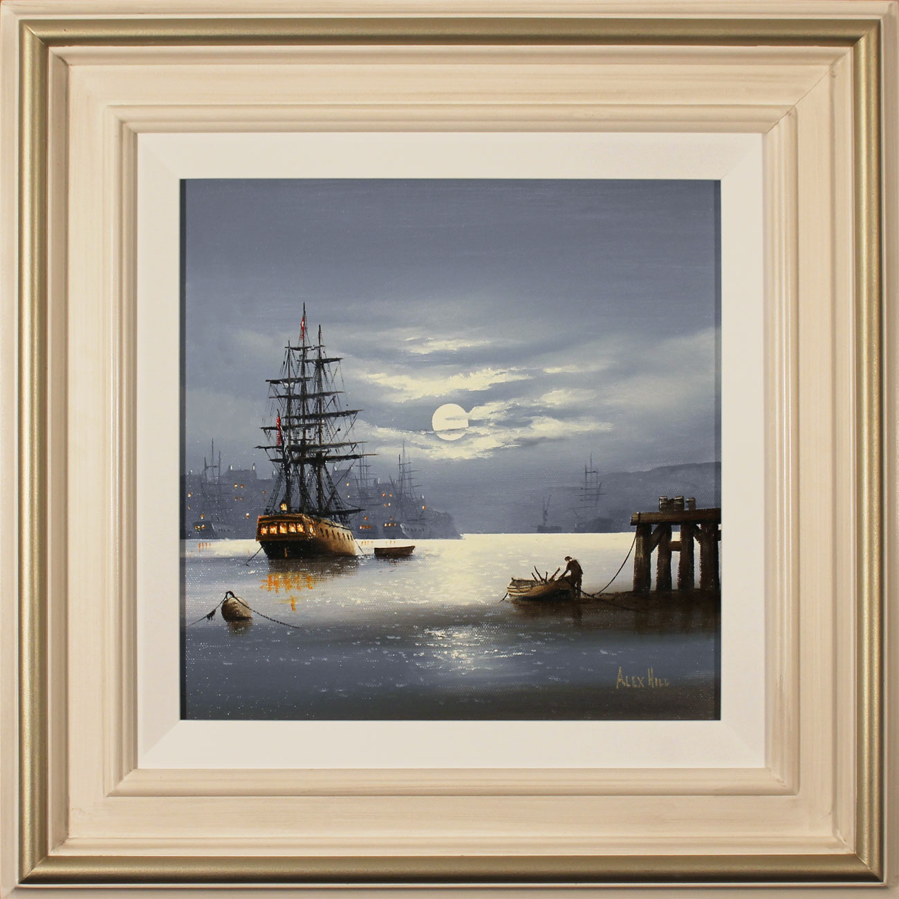 Alex Hill, Original oil painting on canvas, Moonlight Mystery , click to enlarge