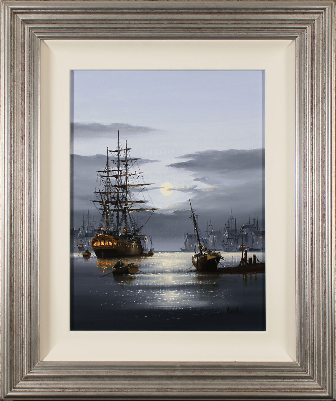 Alex Hill, Original oil painting on canvas, Shining Harbour , click to enlarge