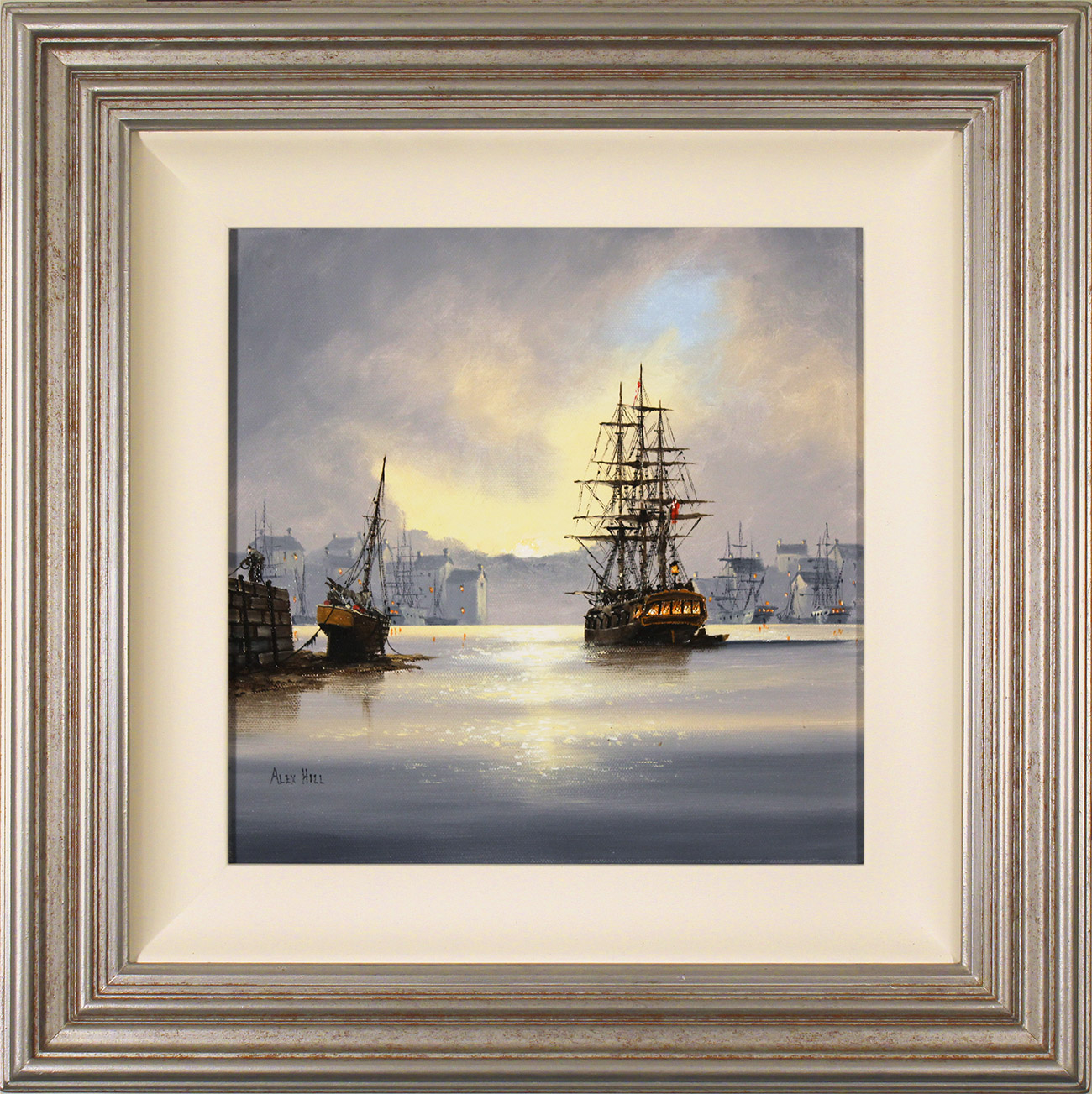 Alex Hill, Original oil painting on canvas, Set Sail at Dawn , click to enlarge