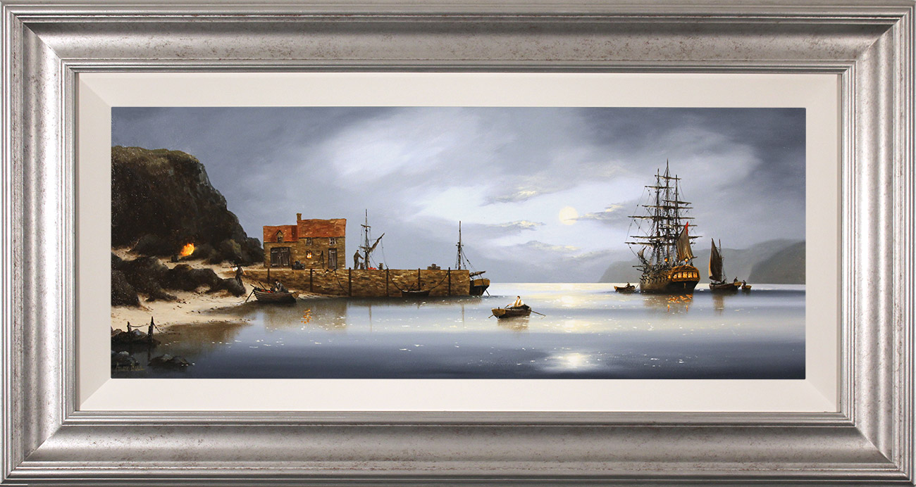 Alex Hill, Original oil painting on panel, The Smuggler's Rest , click to enlarge