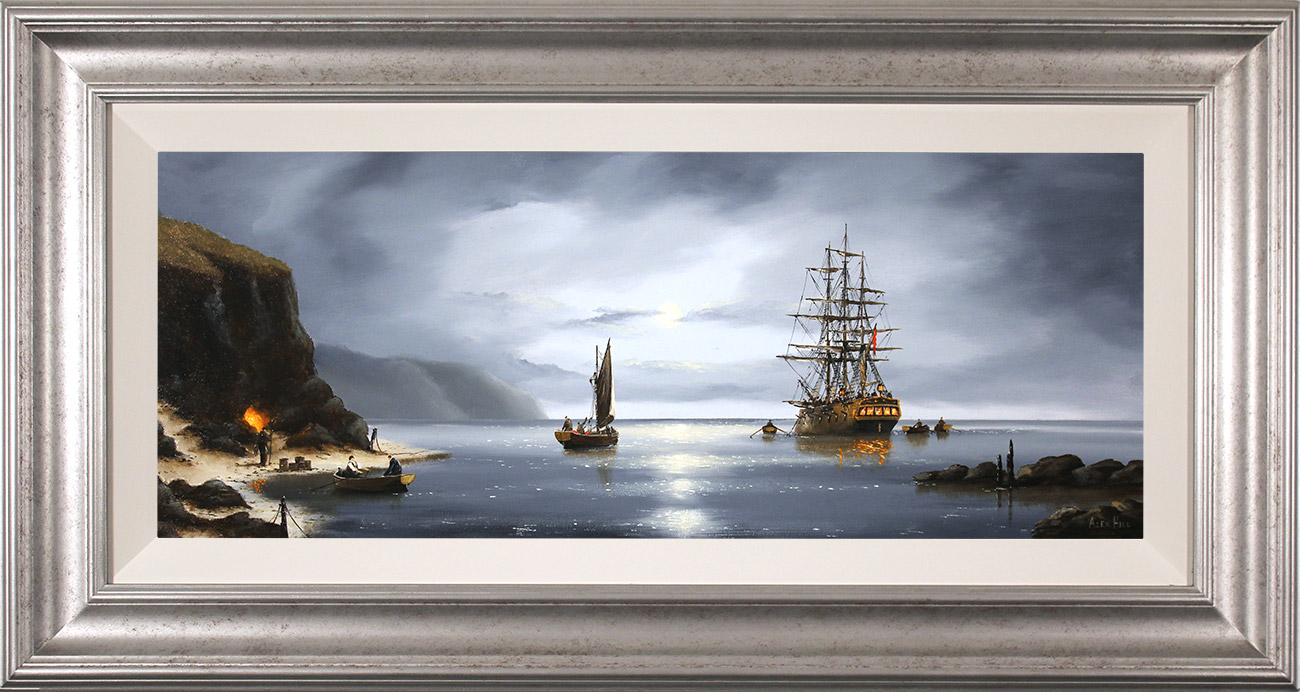 Alex Hill, Original oil painting on panel, Secrets of The Cove, click to enlarge