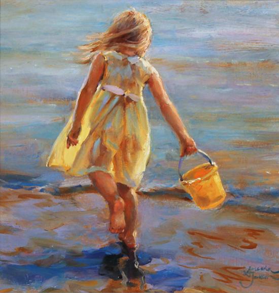 Amanda Jackson, Original oil painting on panel, Little Miss Sunshine