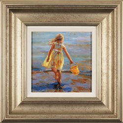 Amanda Jackson, Original oil painting on panel, Little Miss Sunshine
