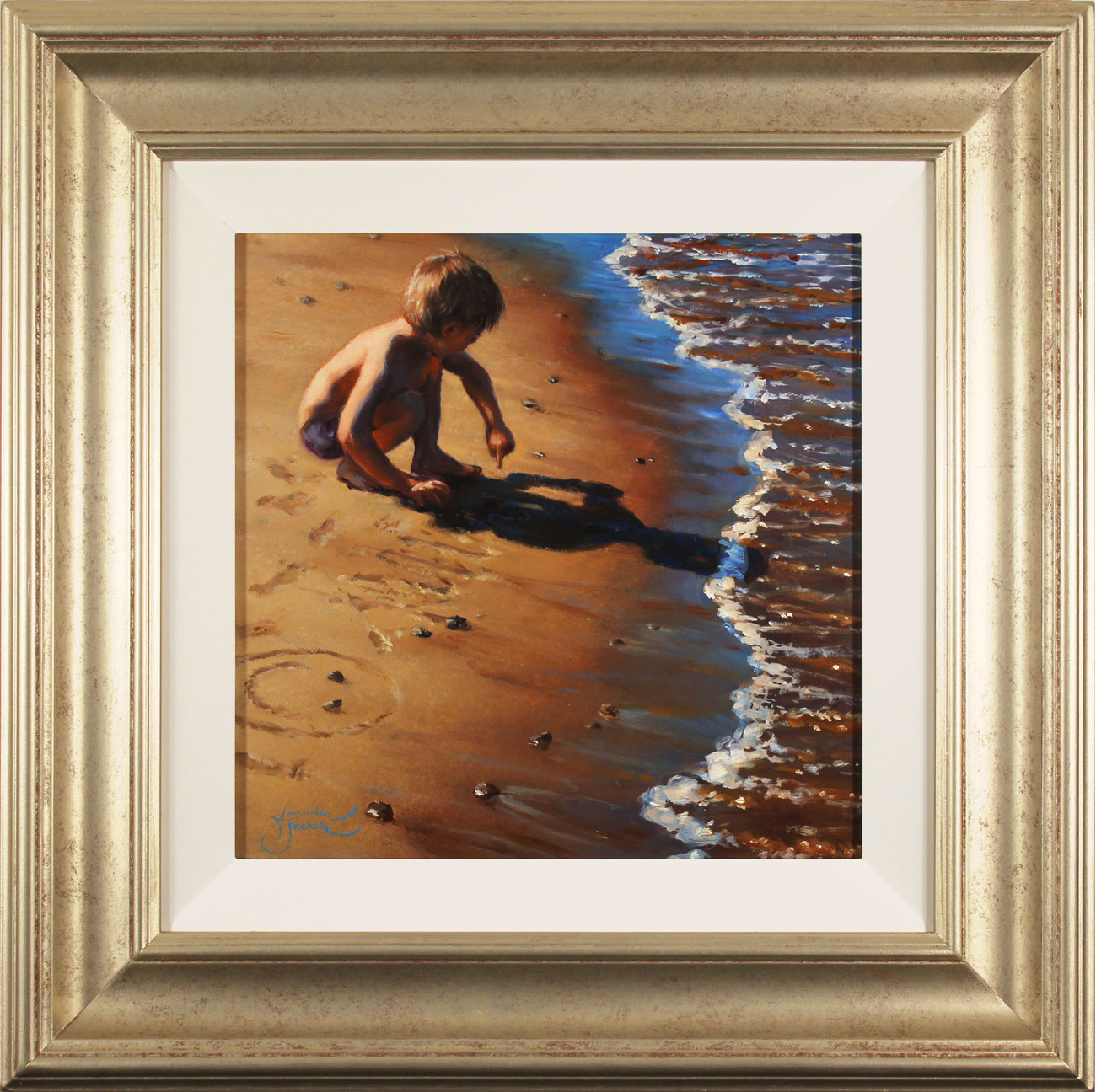 Amanda Jackson, Original oil painting on panel, Lines in the Sand, click to enlarge