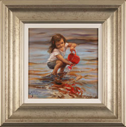 Amanda Jackson, Original oil painting on panel, The Red Watering Can