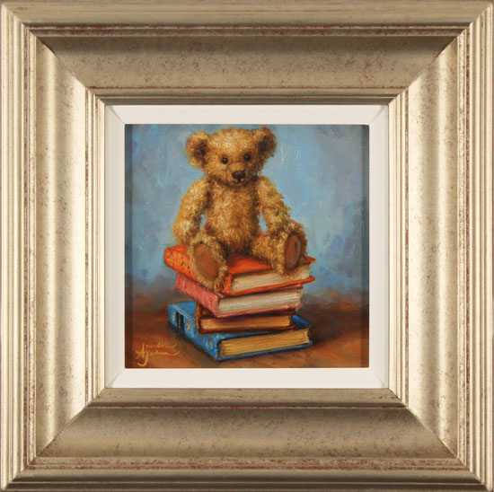 Amanda Jackson, Original oil painting on panel, Bear's Best Books