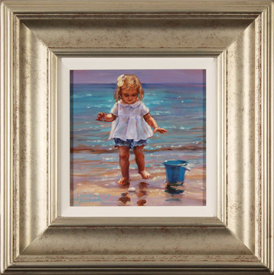 Amanda Jackson, Original oil painting on panel, Day at the Seaside