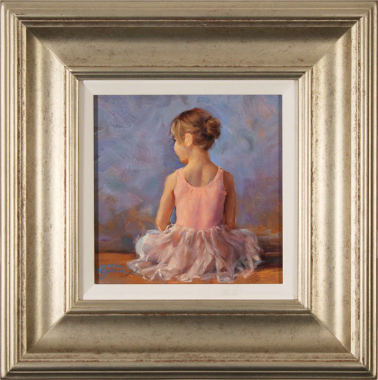 Amanda Jackson, Original oil painting on panel, Sitting Pretty