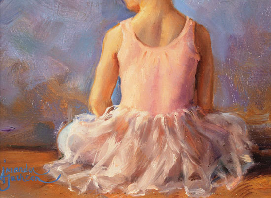 Amanda Jackson, Original oil painting on panel, Sitting Pretty Signature image. Click to enlarge