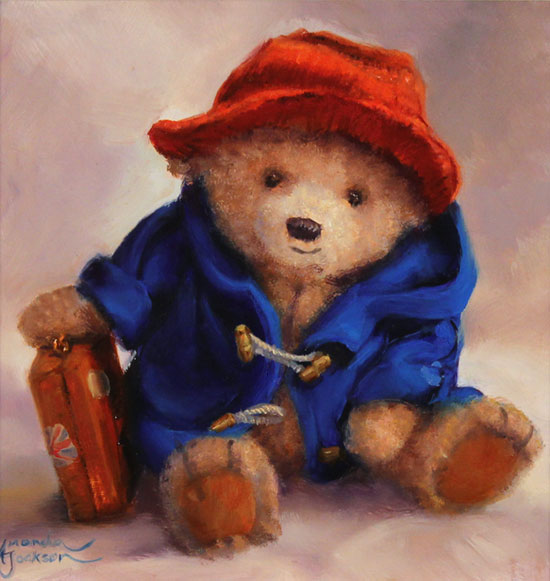 Amanda Jackson, Original oil painting on panel, Our Favourite Bear Without frame image. Click to enlarge