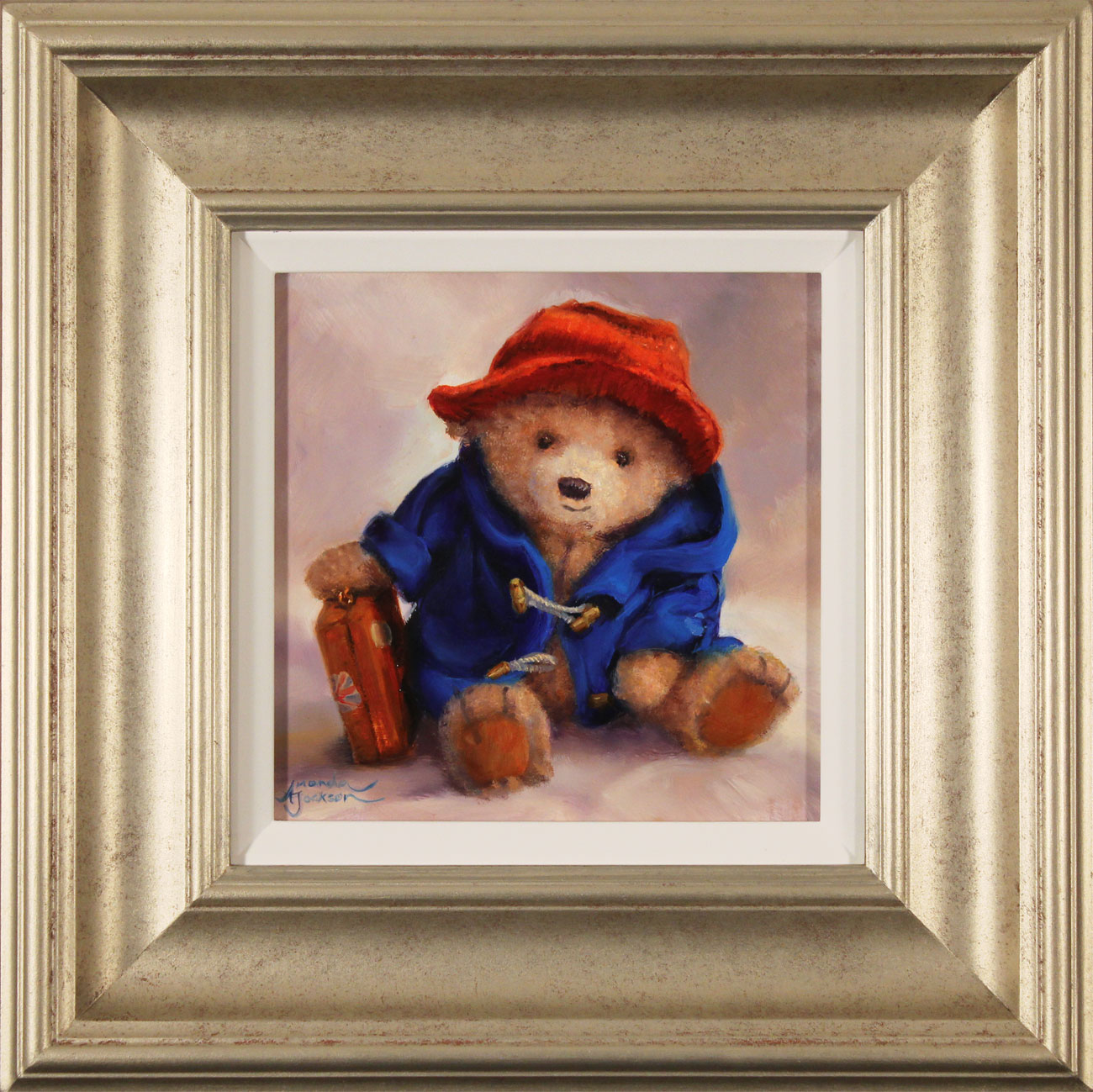 Amanda Jackson, Original oil painting on panel, Our Favourite Bear. Click to enlarge