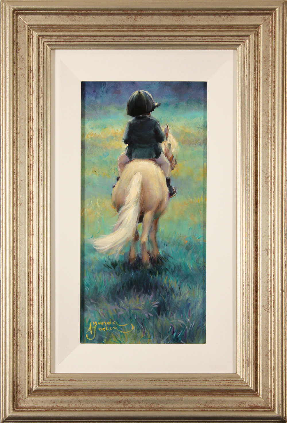 Amanda Jackson, Original oil painting on panel, My Little Pony, click to enlarge