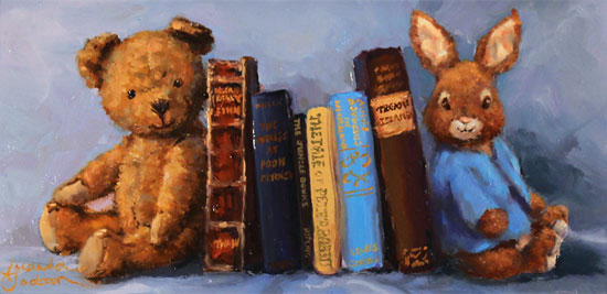 Amanda Jackson, Original oil painting on panel, My Favourite Friends No frame image. Click to enlarge