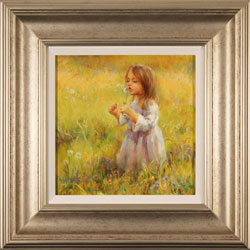 Amanda Jackson, Original oil painting on panel, Golden Memories