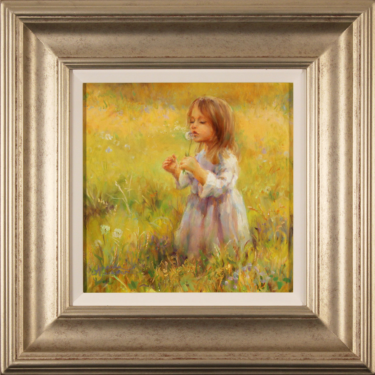 Amanda Jackson, Original oil painting on panel, Golden Memories. Click to enlarge