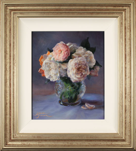 Amanda Jackson, Original oil painting on panel, Garden Bouquet