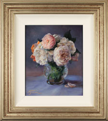 Amanda Jackson, Original oil painting on panel, Garden Bouquet