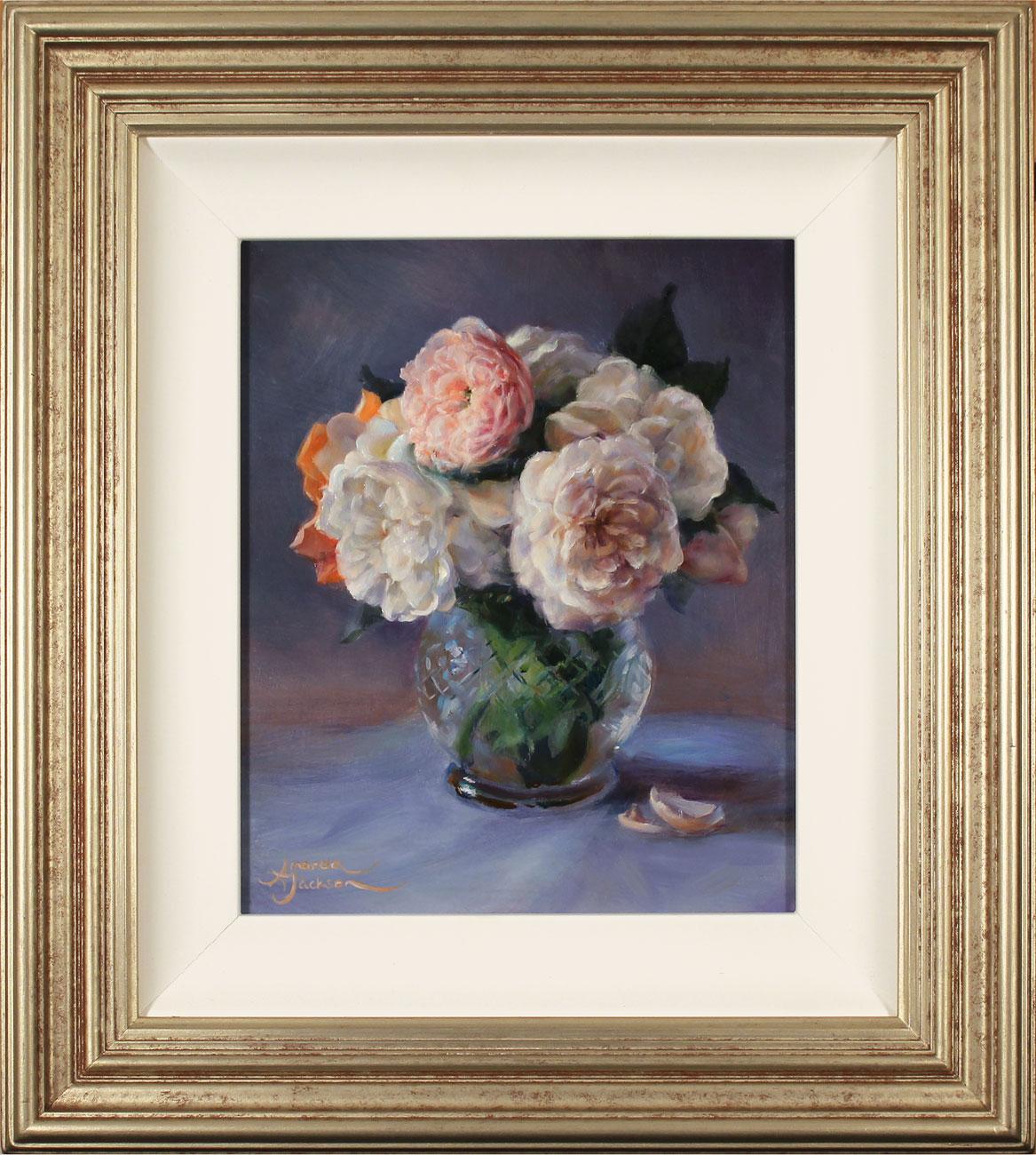 Amanda Jackson, Original oil painting on panel, Garden Bouquet . Click to enlarge
