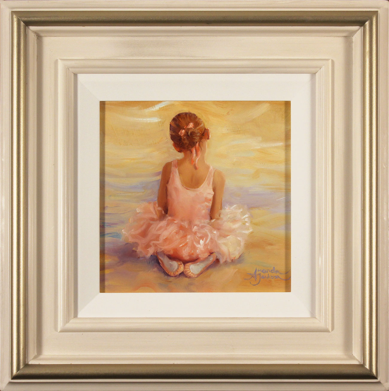 Amanda Jackson, Original oil painting on panel, Daydreamer, click to enlarge